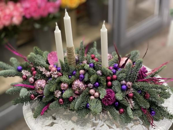 Большая композиция со свечами «фейерверк»