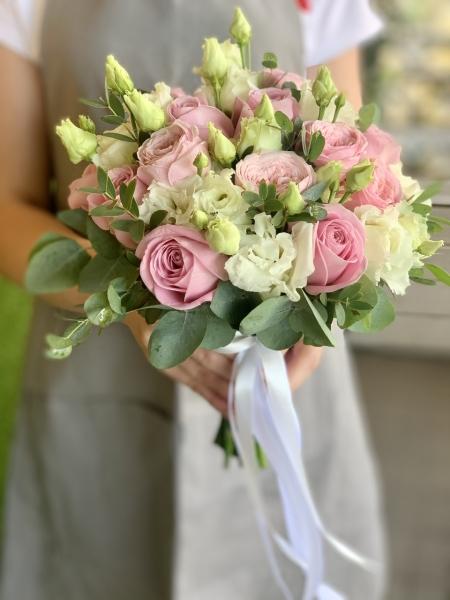 Свадебный букет «розовые сны»