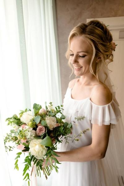 Свадебный букет  растрепыш