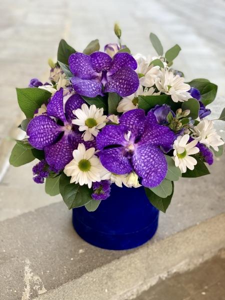Коробка с орхидеями Ванда
