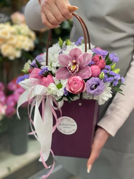 Сумочка с орхидеей