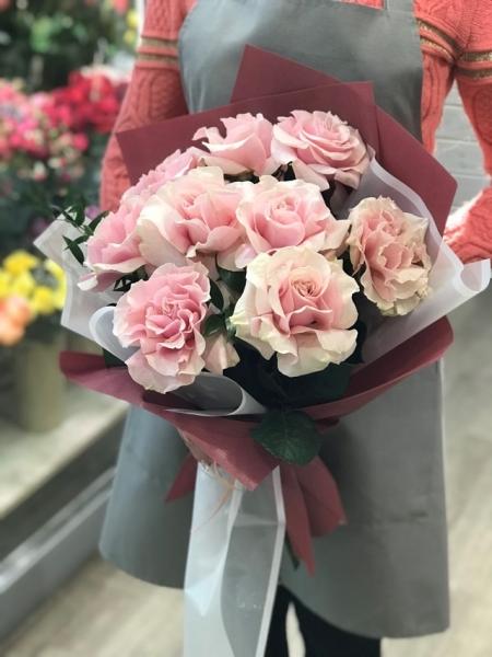 Букет с французскими розами «пинк»