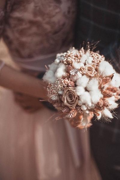 Свадебный букет «зимний»