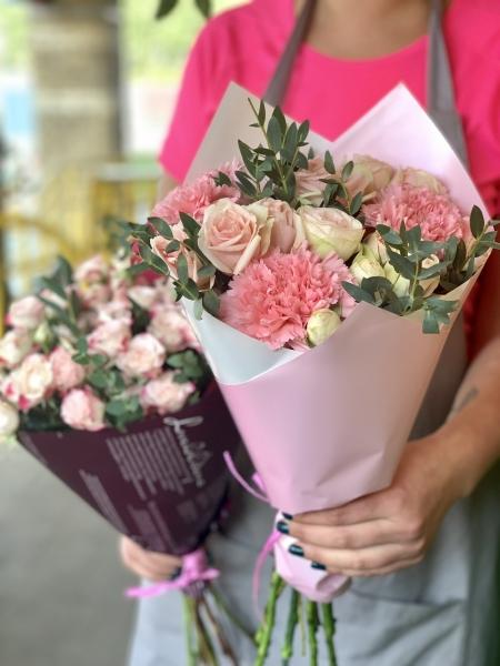 Букет-комплимент розовый микс