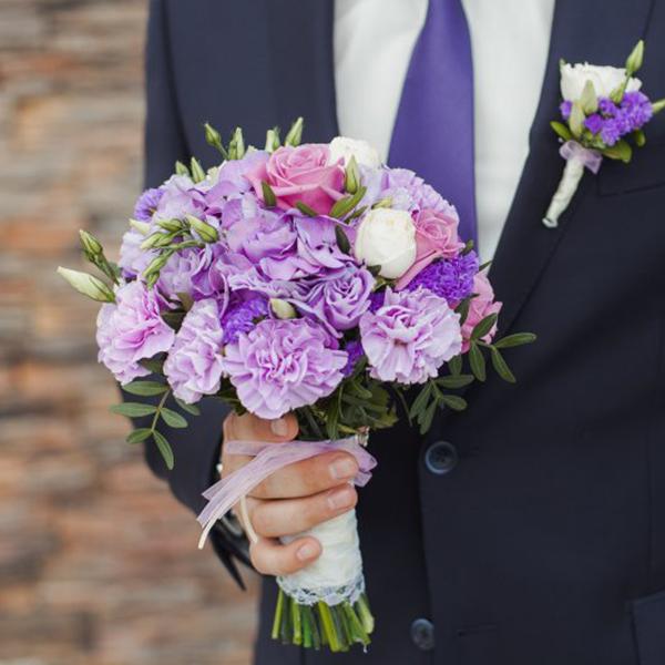 Свадебный букет «сиреневая мечта»