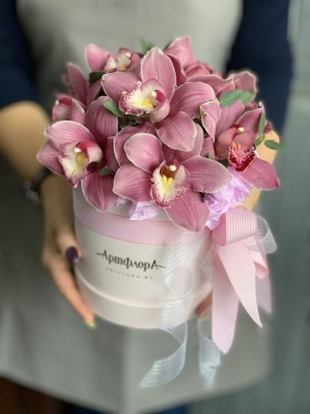 Коробочка с орхидеями «тропическая»